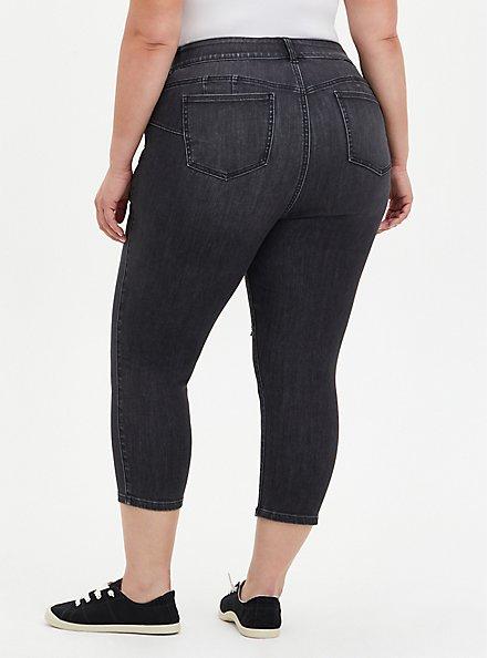 Crop Bombshell Skinny Jean - Super Soft Washed Black, RAVEN, alternate