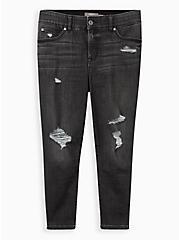 Crop Bombshell Skinny Jean - Super Soft Washed Black, RAVEN, hi-res