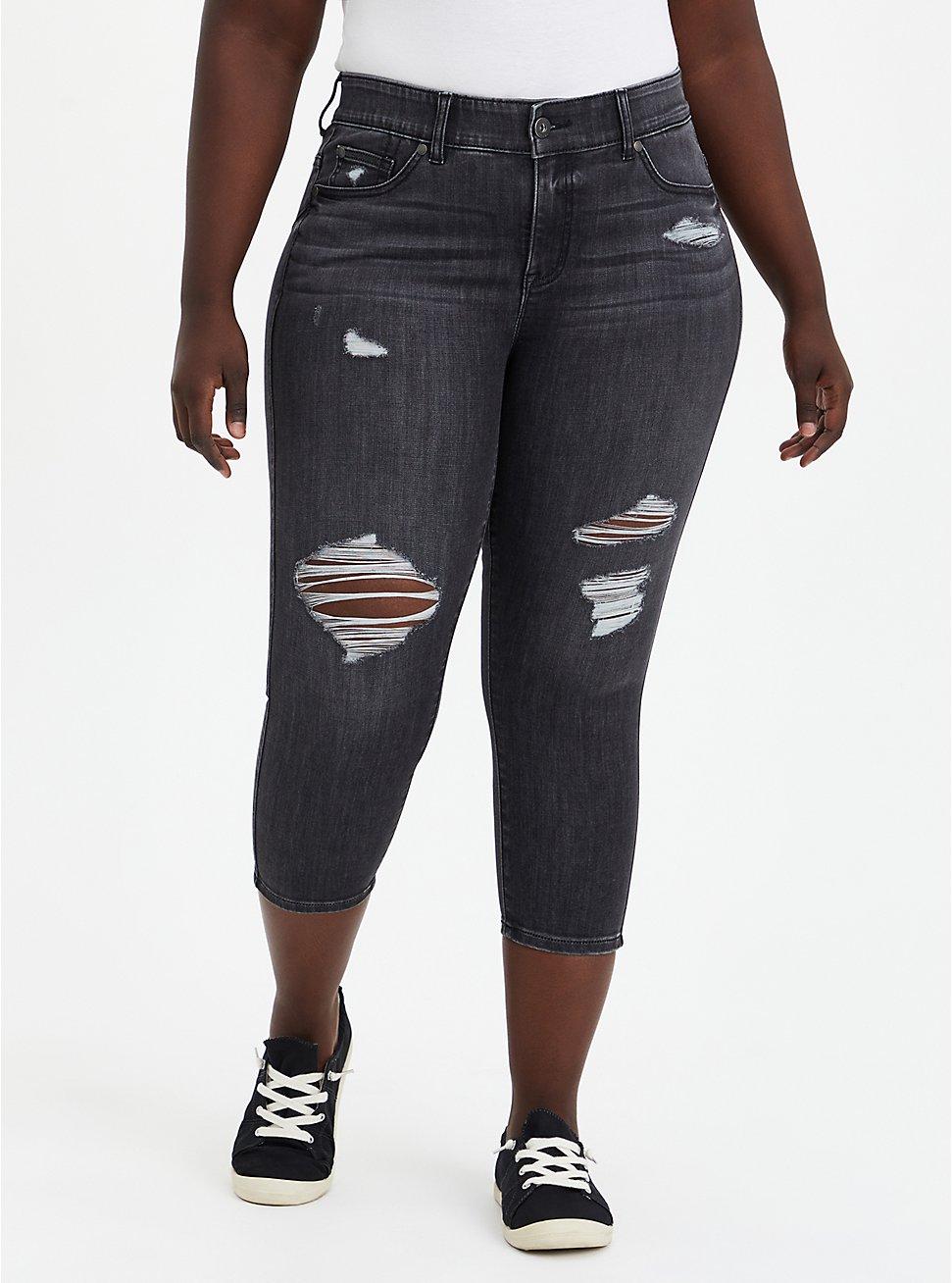 Crop Bombshell Skinny Jean - Super Soft Washed Black, , fitModel1-hires