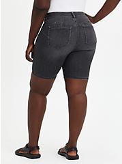 Plus Size Bombshell Bermuda Short - Super Soft Black Wash, , fitModel1-alternate