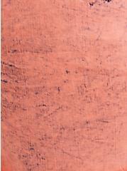 Mid Rise Midi Short - Vintage Stretch Coral Acid Wash, FUSION CORAL, alternate