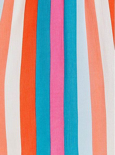 Plus Size Handkerchief Dress - Crinkle Gauze Multi Stripe , STRIPE - MULTI, alternate