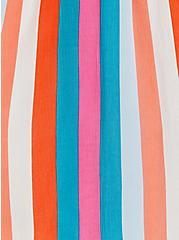 Handkerchief Dress - Crinkle Gauze Multi Stripe , STRIPE - MULTI, alternate