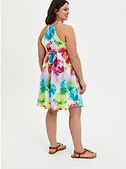 Multi Tie-Dye Knit Skater Dress, TIE DYE, alternate