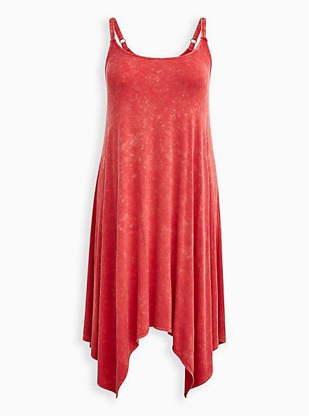 Plus Size Jersey Handkerchief Dress - Pink Wash, TEABERRY, hi-res