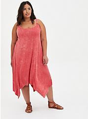 Jersey Handkerchief Dress - Pink Wash, TEABERRY, hi-res