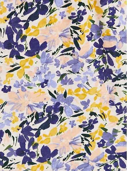 Skater Dress - Slub Lilac Floral, FLORALS-LAVENDER, alternate