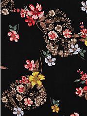 Skater Dress - Super Soft Black Floral + Skull, SKULL FLORALS-BLACK, alternate