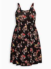 Skater Dress - Super Soft Black Floral + Skull, SKULL FLORALS-BLACK, hi-res