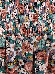 Trapeze Midi Dress - Gauze Floral, FLORAL - MULTI, alternate