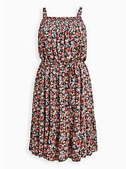 Trapeze Midi Dress - Gauze Floral, FLORAL - MULTI, hi-res
