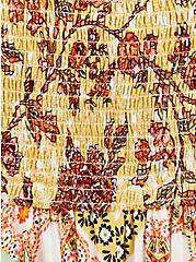 Handkerchief Midi Dress - Challis Yellow Floral, FLORAL - YELLOW, alternate