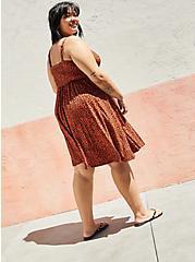 Plus Size Tie-Front Skater Dress - Super Soft Leopard, LEOPARD, alternate