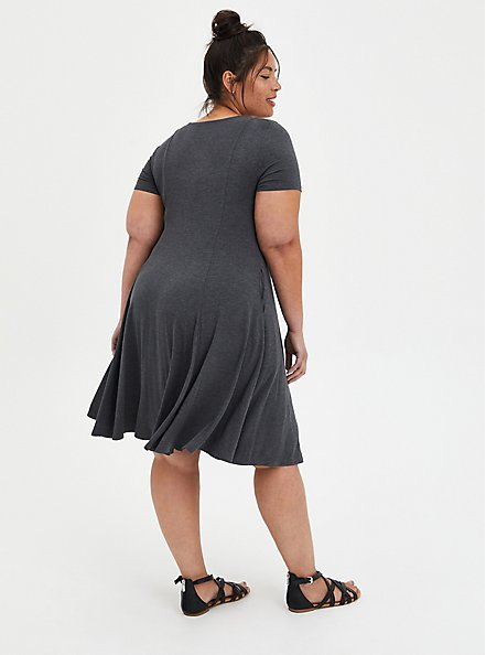 Sweetheart Fit & Flare - Super Soft Heather Grey, CHARCOAL, alternate