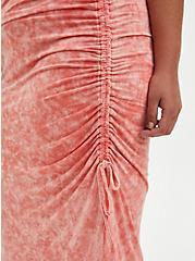 Bodycon Midi Dress - Super Soft Coral Wash, CORAL, alternate