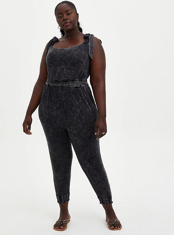 Jumpsuit - Super Soft Black Wash, TIE DYE-BLACK, hi-res