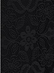 Black Mesh & Lace Button-Front Midi Set, DEEP BLACK, alternate
