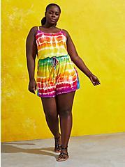 Celebrate Love Romper - Super Soft Rainbow Tie-Dye, TIE DYE, alternate