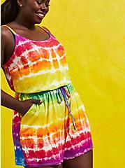 Celebrate Love Romper - Super Soft Rainbow Tie-Dye, TIE DYE, hi-res