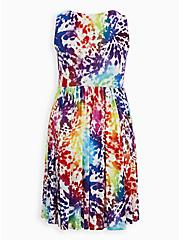 Celebrate Love Scoop Neck Skater Dress - Super Soft Rainbow Tie-Dye, TIE DYE, alternate