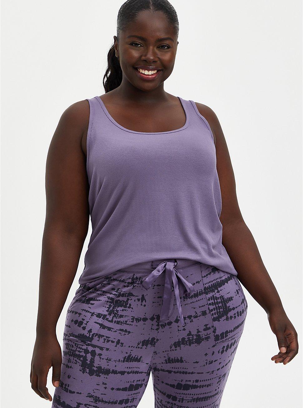 Sleep Tank - Super Soft Rib Purple, , hi-res