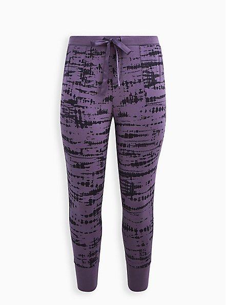 Plus Size Sleep Legging With Pockets - Super Soft Washed Purple, MULTI, hi-res