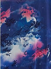 Plus Size Tiger Print Crochet Trim Chiffon Kimono, TIGER - PURPLE, alternate