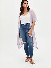 Purple Clip Dot Kimono, MAUVE, alternate