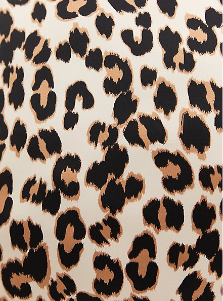 Leopard Satin Lace Trim Sleep Cami, MULTI, alternate