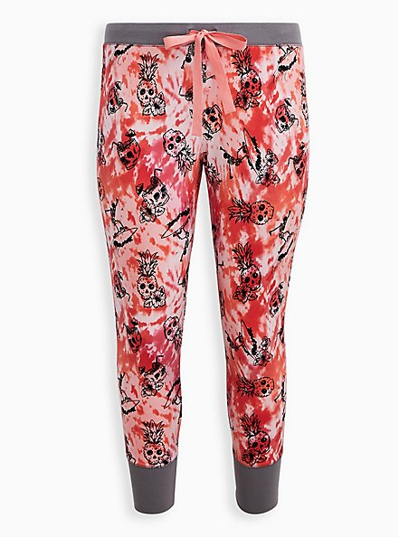 Plus Size Pink Pineapple Sleep Legging, MULTI, hi-res