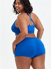 Seamless Boyshort Panty - Stripe Blue, LAPIS BLUE, alternate