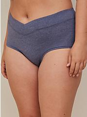 Boyshort Panty - Heather Blue Microfiber, PEACOAT, alternate