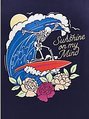 Navy Super Soft Surfer Sleep Babydoll Tunic, NAVY, alternate