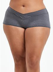 Boyshort Panty - Microfiber Heather Grey, CHARCOAL HEATHER, hi-res