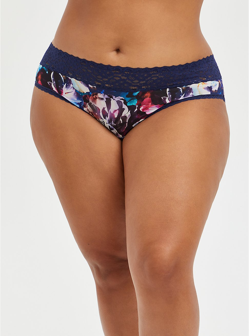Second Skin Cheeky Panty - Lace Galaxy Blue, FLORAL IN GALAXY, hi-res