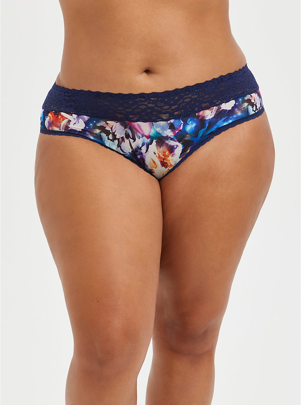 Second Skin Hipster Panty - Lace Galaxy Blue, FLORAL IN GALAXY, hi-res