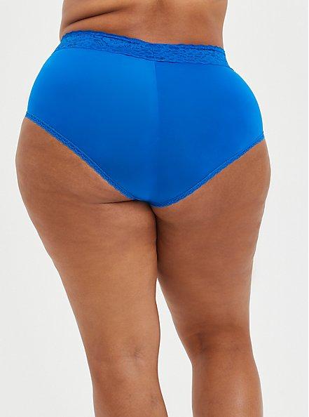 Plus Size Second Skin Brief Panty - Blue , LAPIS BLUE, alternate