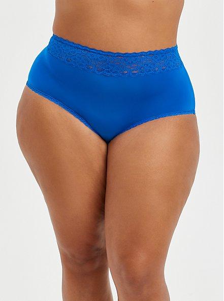Plus Size Second Skin Brief Panty - Blue , LAPIS BLUE, hi-res