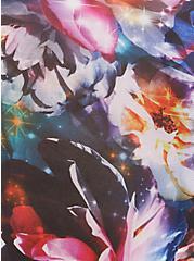 High Waist Cutout Panty - Microfiber Floral Galaxy Blue, FLORAL IN GALAXY, alternate