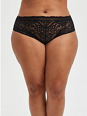 Cheeky Panty - Black Lace Lattice, FLORAL IN GALAXY, hi-res