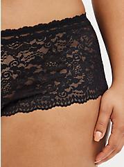 Open Gusset Cheeky Panty - Lace Black, RICH BLACK, alternate