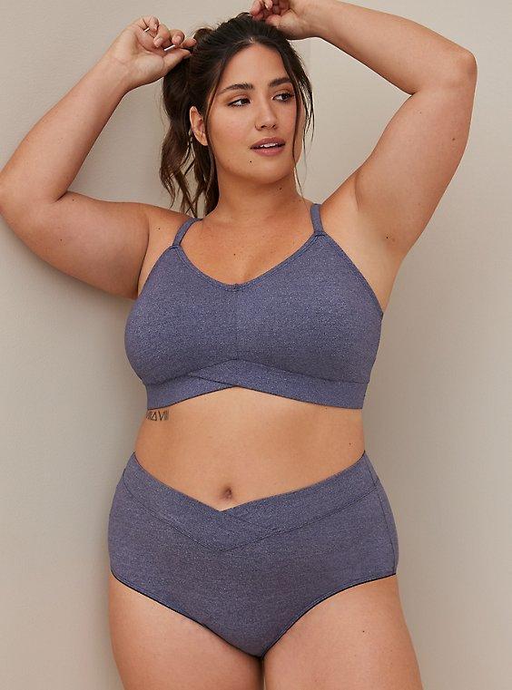 Brief Panty - Microfiber Heather Blue, , hi-res