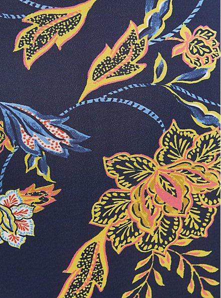 Brief Panty - Microfiber + Lace Floral Blue, MELINDA FLORAL, alternate