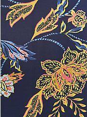 Plus Size Brief Panty - Microfiber + Lace Floral Blue, MELINDA FLORAL, alternate