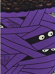 Wide Lace Trim Cheeky Panty - Cotton Mummy Wrap Purple, UNDER WRAPS, alternate