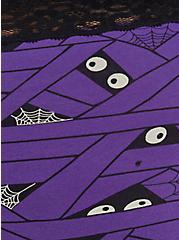 Wide Lace Trim Brief Panty - Cotton Mummy Wrap Purple, UNDER WRAPS, alternate