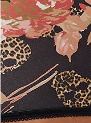 Plus Size Crossover Cheeky Panty - Microfiber Floral Leopard Skull Black, LEOPARD SKULL ROSES, alternate
