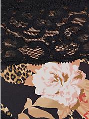 Second Skin Bikini Panty - Microfiber Floral Leopard Skull Black, LEOPARD SKULL ROSES, alternate