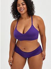 Seamless Flirt Hipster Panty - Lace Purple, PETUNIA, alternate