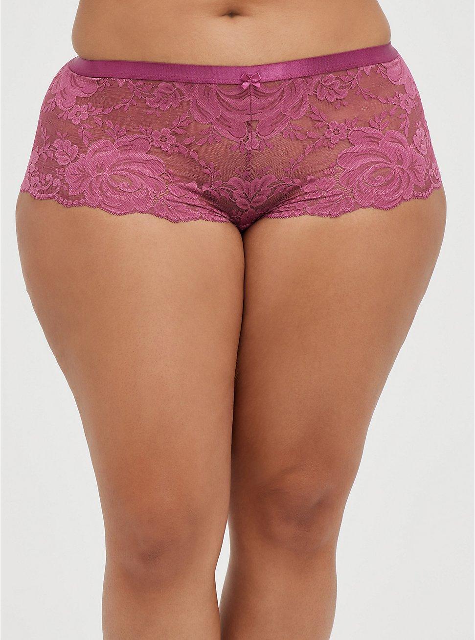 Cheeky Panty - Lace Pink, VIOLET QUARTZ, hi-res